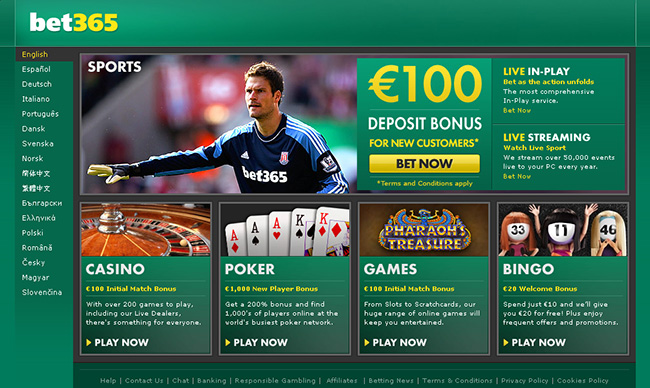 Bet365 Home
